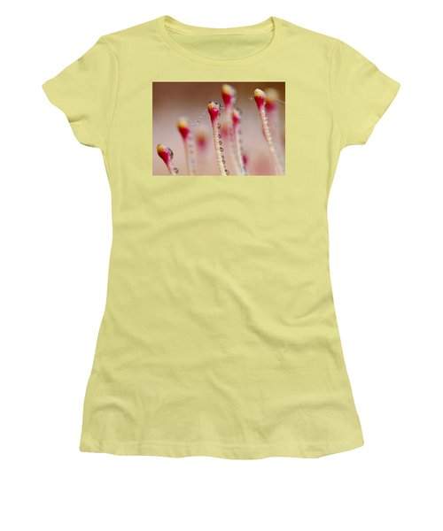 Dew Drops In A Row... Women's T-Shirt (Athletic Fit)