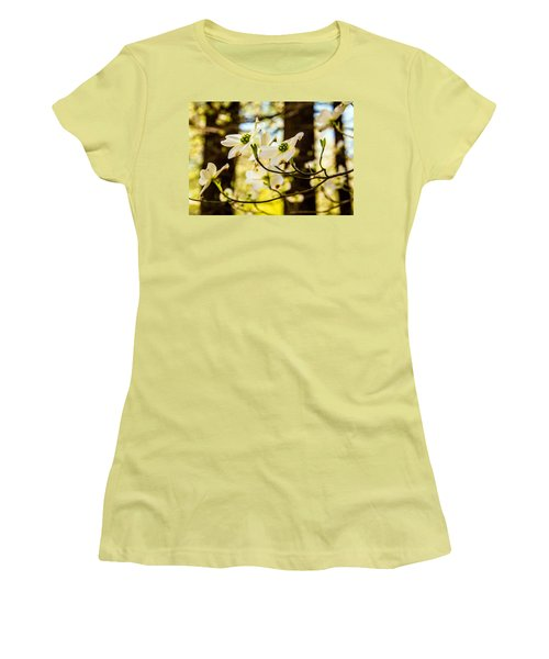 Women's T-Shirt (Junior Cut) featuring the photograph Dogwood Day Afternoon by John Harding