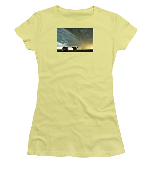 Dominating The Storm Women's T-Shirt (Junior Cut) by Ryan Crouse
