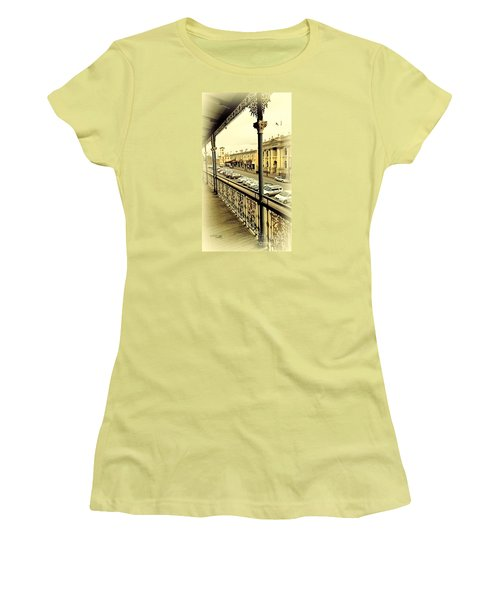 Women's T-Shirt (Junior Cut) featuring the photograph Downtown Daylesford II by Chris Armytage