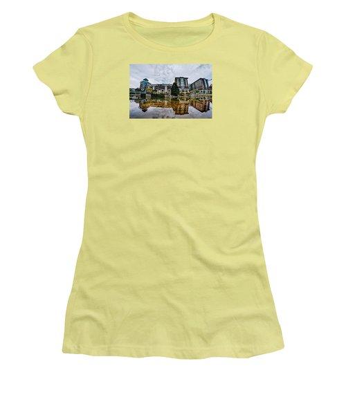Downtown Of Greenville South Carolina Around Falls Park Women's T-Shirt (Junior Cut) by Alex Grichenko