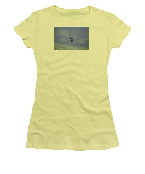 Women's T-Shirt (Junior Cut) featuring the photograph Dragonfly by Heidi Poulin