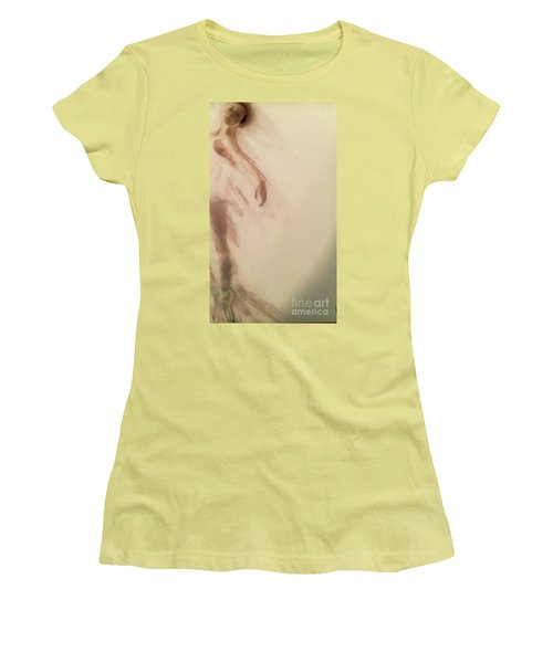 Women's T-Shirt (Junior Cut) featuring the painting Dust In The Wind by FeatherStone Studio Julie A Miller