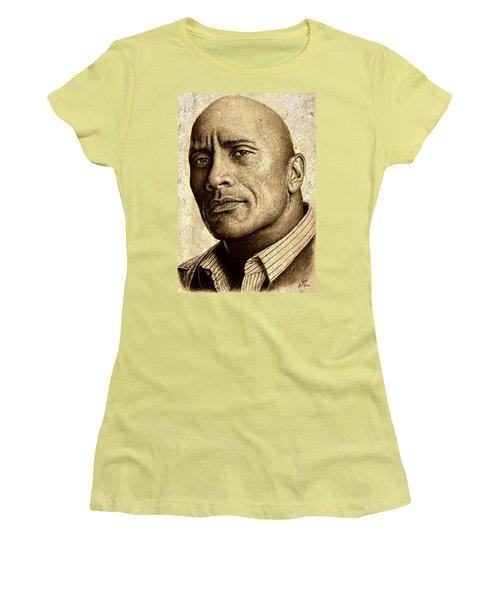 Dwayne The Rock Johnson Women's T-Shirt (Athletic Fit)