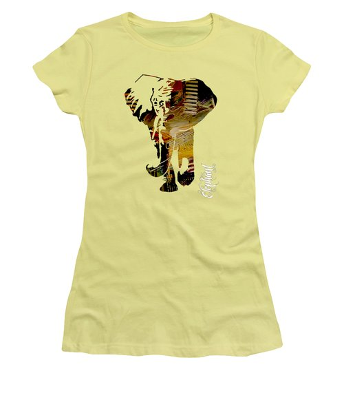 Elephant Collection Women's T-Shirt (Athletic Fit)