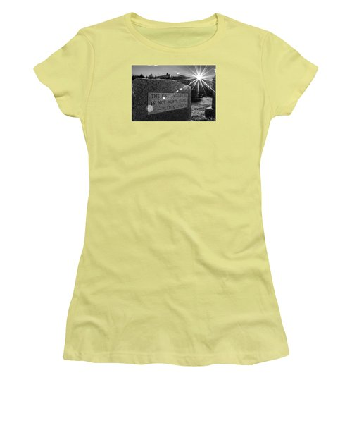 Women's T-Shirt (Junior Cut) featuring the photograph Examined Life by Rhys Arithson