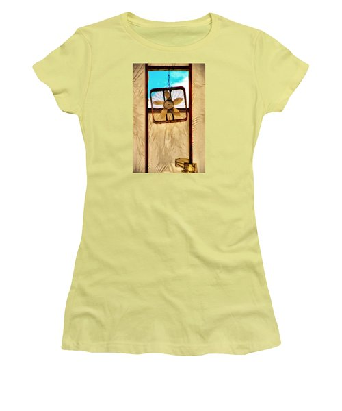 Women's T-Shirt (Junior Cut) featuring the photograph Fan by Newel Hunter