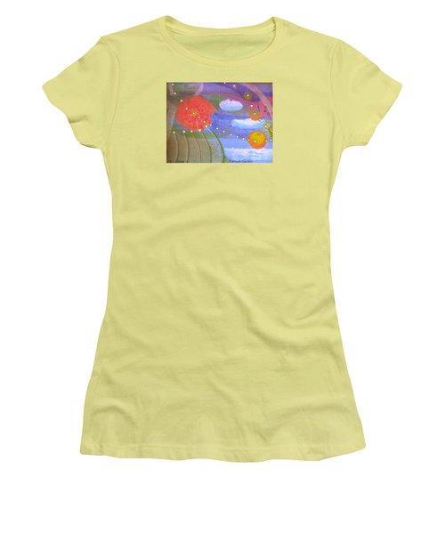 Fantasy Garden Women's T-Shirt (Junior Cut) by Rod Ismay