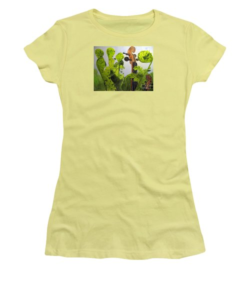 Fiddleheads Women's T-Shirt (Junior Cut) by Sandy McIntire