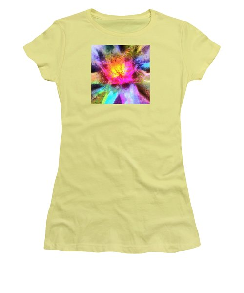 Women's T-Shirt (Junior Cut) featuring the photograph Floral Mandala 01 by Jack Torcello