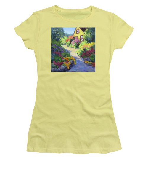 Garden Path Women's T-Shirt (Junior Cut) by Karen Ilari