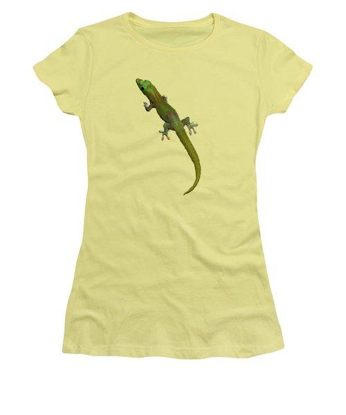 Gecko  Women's T-Shirt (Junior Cut) by Pamela Walton