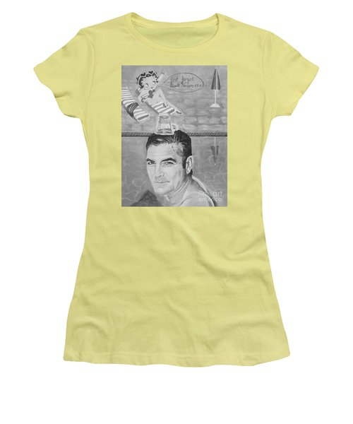 George Clooney Women's T-Shirt (Junior Cut) by Jeepee Aero
