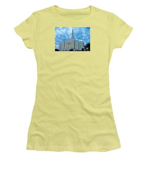 Gilbert Arizona Lds Temple Women's T-Shirt (Junior Cut) by Nick Boren