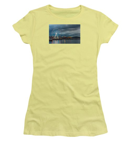 Women's T-Shirt (Junior Cut) featuring the photograph Great Wheel by Jerry Cahill