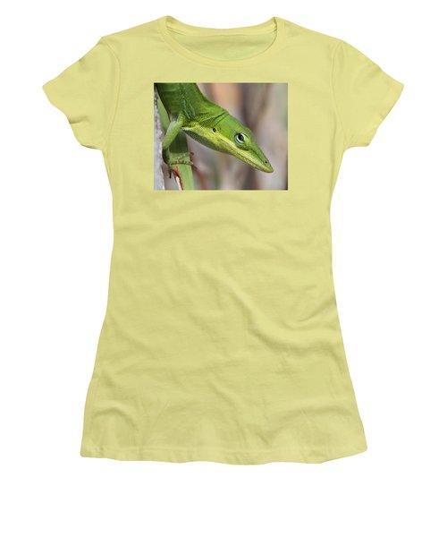 Green Beauty Women's T-Shirt (Junior Cut) by Doris Potter