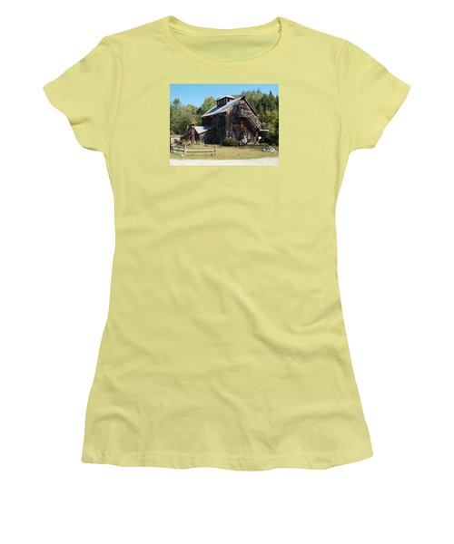 Grist Mill Women's T-Shirt (Junior Cut) by Catherine Gagne