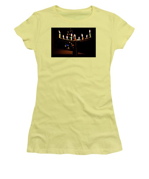 Women's T-Shirt (Junior Cut) featuring the photograph Happy Holidays by Susan Stone