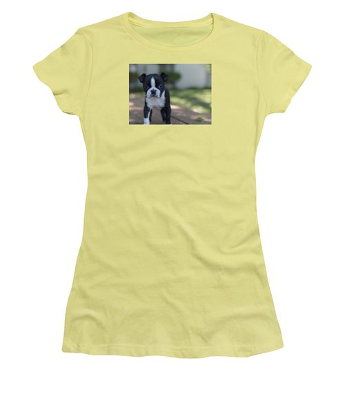 Harley As A Puppy Women's T-Shirt (Athletic Fit)