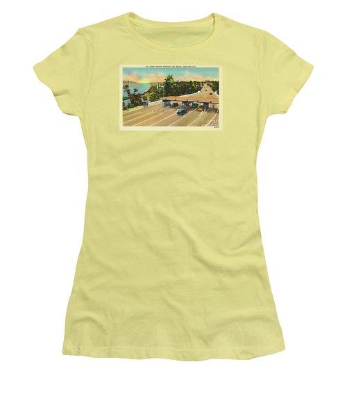 Henry Hudson Bridge Postcard  Women's T-Shirt (Junior Cut)
