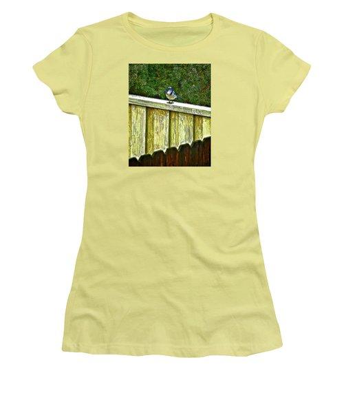 Hiding In Safety Women's T-Shirt (Junior Cut) by Nancy Marie Ricketts