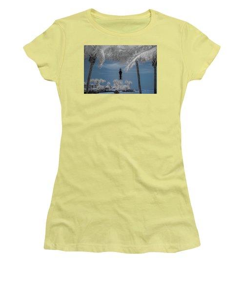 Women's T-Shirt (Junior Cut) featuring the photograph Hillsboro Inlet Lighthouse by Louis Ferreira