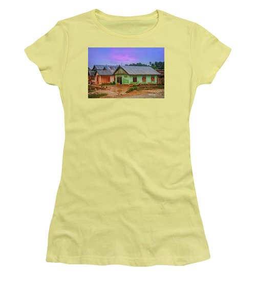 Women's T-Shirt (Junior Cut) featuring the photograph Houses by Charuhas Images