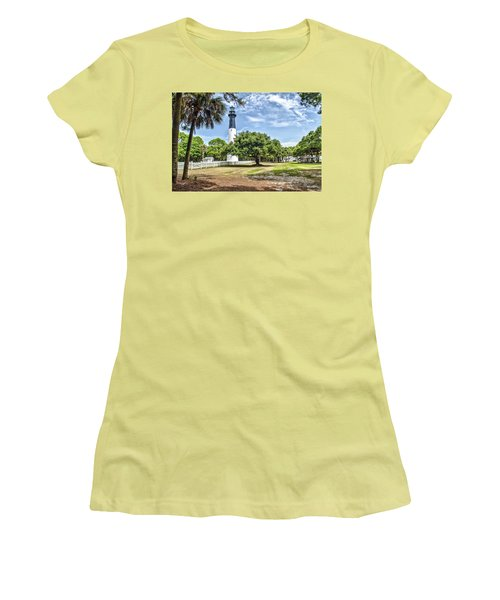 Hunting Island Lighthouse Women's T-Shirt (Athletic Fit)