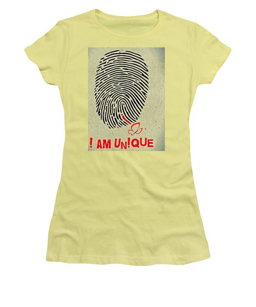 I Am Unique Women's T-Shirt (Athletic Fit)