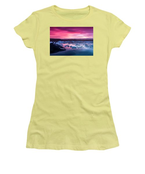 Iceberg In Jokulsarlon Glacial Lagoon Women's T-Shirt (Athletic Fit)