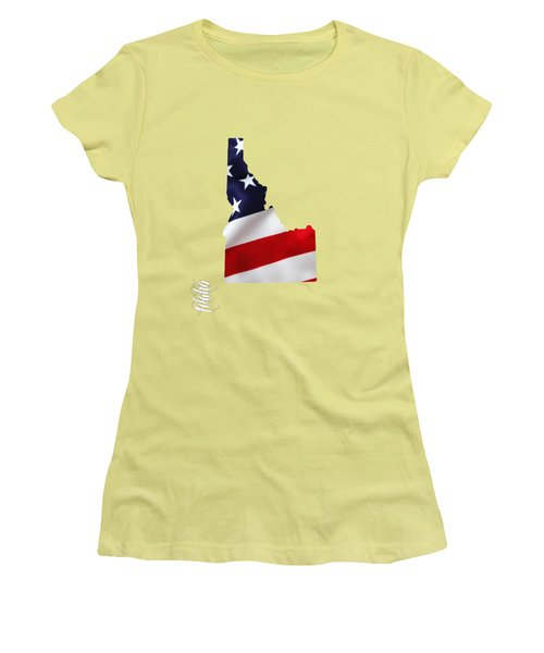 Idaho State Map Collection Women's T-Shirt (Athletic Fit)