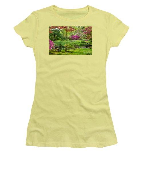 Japanese Garden Women's T-Shirt (Junior Cut) by Anastasy Yarmolovich