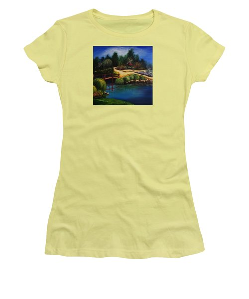 Japanese Gardens - Original Sold Women's T-Shirt (Athletic Fit)