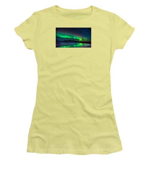 Jokulsarlon Aurora Women's T-Shirt (Athletic Fit)
