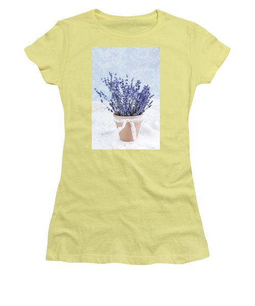 Lavender Women's T-Shirt (Junior Cut) by Stephanie Frey