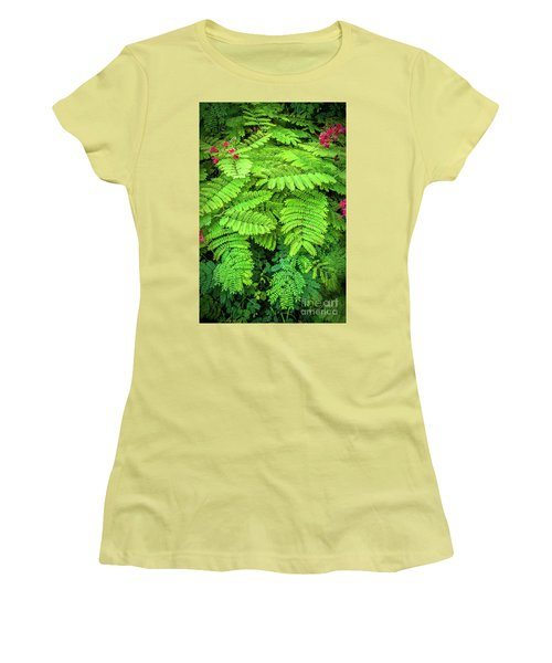 Women's T-Shirt (Junior Cut) featuring the photograph Leaves by Charuhas Images
