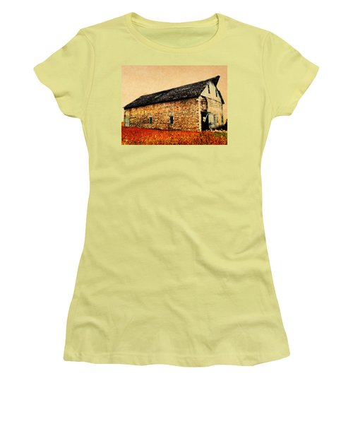 Lime Stone Barn Women's T-Shirt (Athletic Fit)