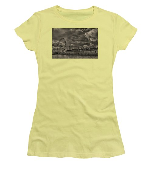London Eye Women's T-Shirt (Junior Cut) by Martin Newman