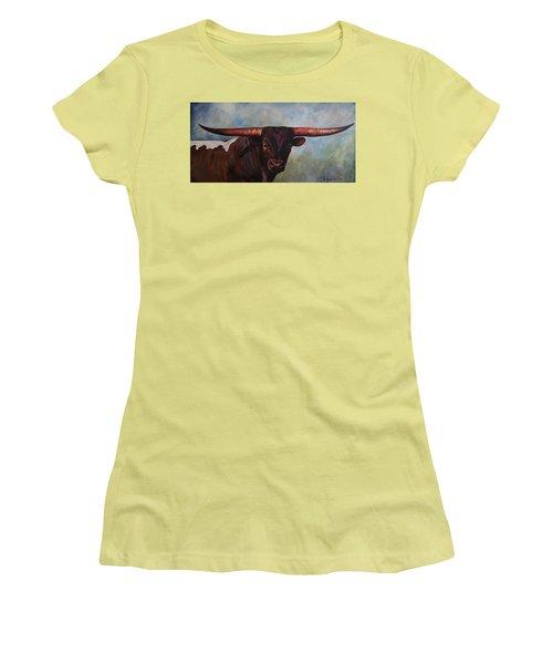 Longhorned Texan Women's T-Shirt (Athletic Fit)