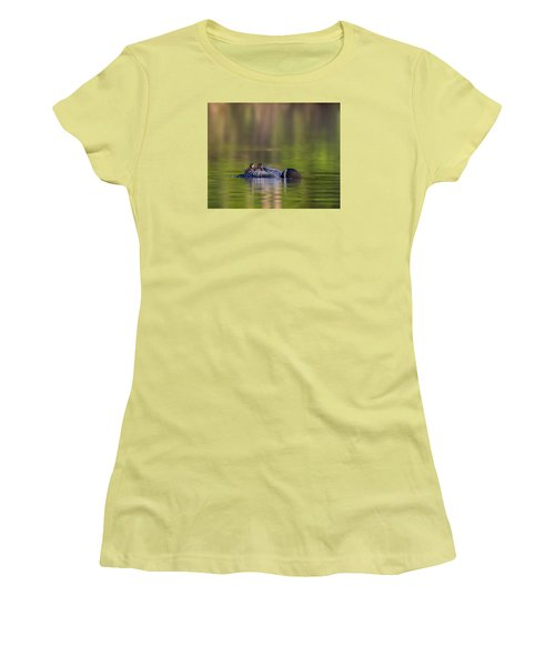 Loon Chick Yawn Women's T-Shirt (Athletic Fit)