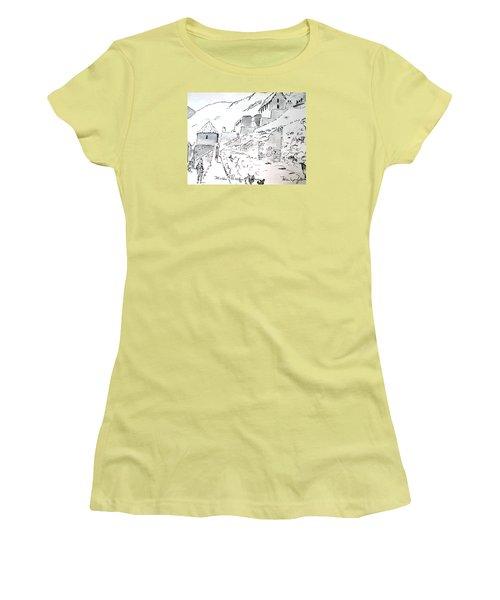 Machu Picchu Women's T-Shirt (Junior Cut) by Marilyn Zalatan