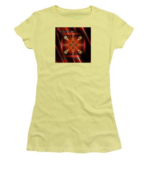 Women's T-Shirt (Junior Cut) featuring the digital art Mandala Burning by Mario Carini