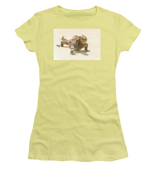 Marine Iguana On Galapagos Islands Women's T-Shirt (Athletic Fit)