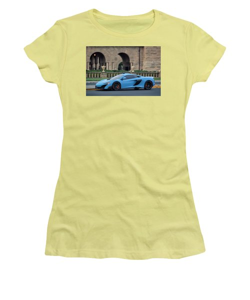 #mclaren #675lt With #pirelli #tires Women's T-Shirt (Athletic Fit)