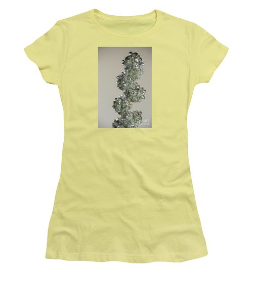 Women's T-Shirt (Junior Cut) featuring the photograph Meadow Flower And Drops by Odon Czintos