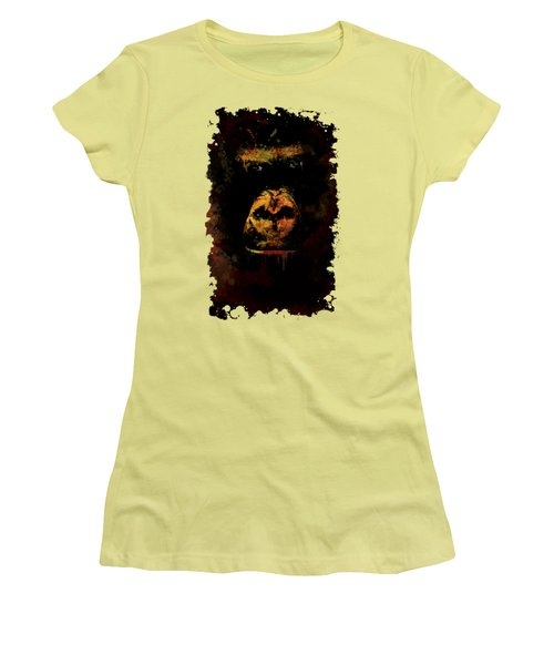 Mighty Gorilla Women's T-Shirt (Junior Cut) by Jaroslaw Blaminsky