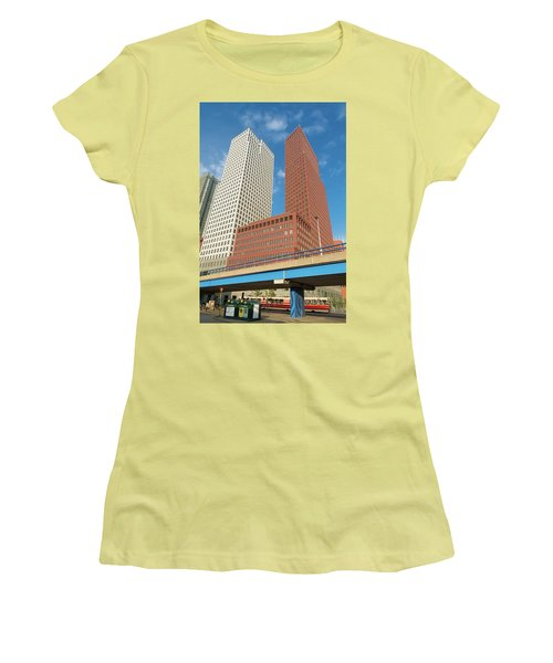 Modern Skyscrapers Women's T-Shirt (Junior Cut) by Hans Engbers