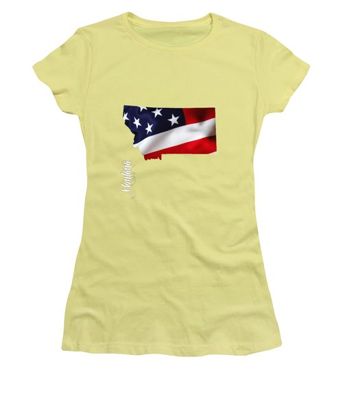 Montana State Map Collection Women's T-Shirt (Athletic Fit)
