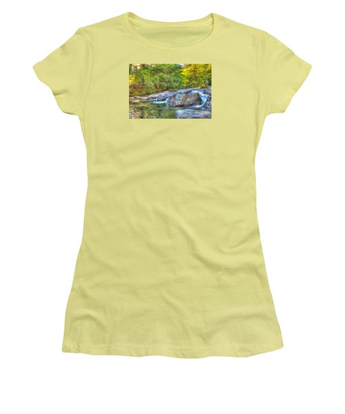 Mountain Stream Waterfalls Women's T-Shirt (Athletic Fit)