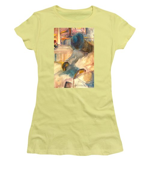 Women's T-Shirt (Junior Cut) featuring the painting Mr Hunters Porch by Daun Soden-Greene